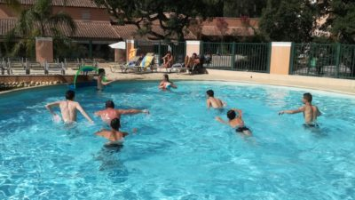 Camping et sport : water-polo