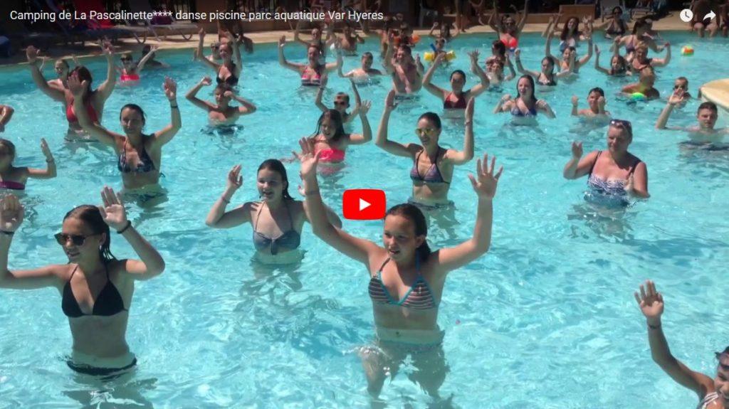 Camping de La Pascalinette**** danse de la piscine au parc aquatique