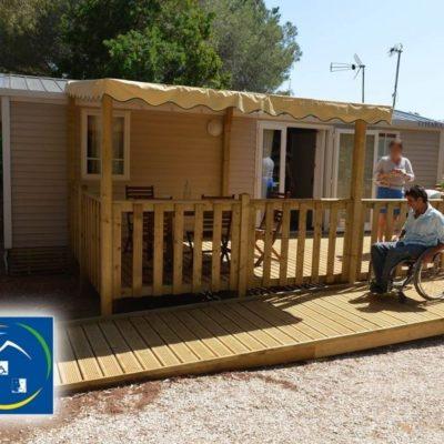 Camping Var PMR (Personnes à Mobilité Réduite) pour fauteuil roulant