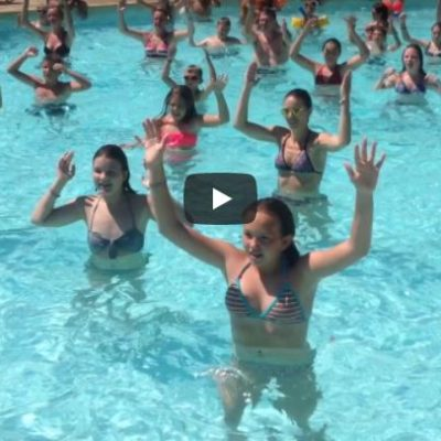 Camping du Var danses dans les piscines