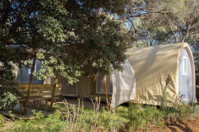 Location de bungalow en toile dans le Var en camping nature