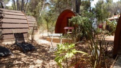 Cabane sous la pinède - camping Hyères