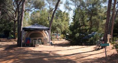 Location tentes caravanes vacances camping Porquerolles