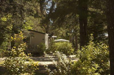 Camping dans la végétation près de Hyères