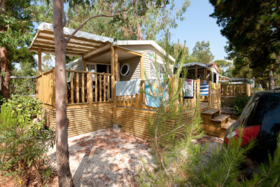 Camping parc aquatique Lavandou Location Mobile-home Standing Premium