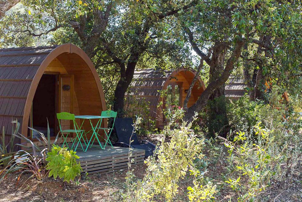 Terrasses Amenagees Pour Les Cabanes Au Camping