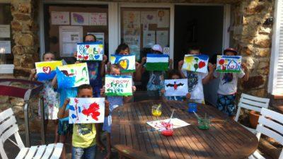 Peinture et animation club enfants camping Hyères