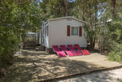 Location de mobile-home pour 4 personnes en camping 4 étoiles