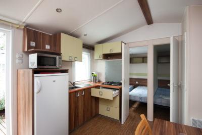 Location de mobile-home pour 6 personnes en camping à la Londe