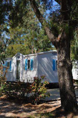 Location de mobile-home pour 6 dans un camping écoresponsable