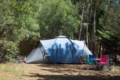 Tentes au camping du Var