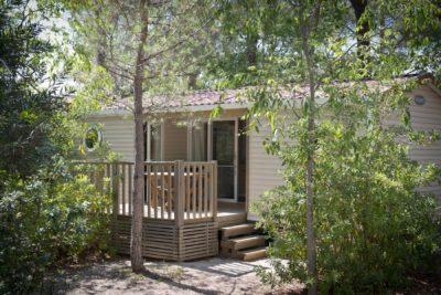 Mobile-home Premium avec air conditionné en camping 4 étoiles dans le Var