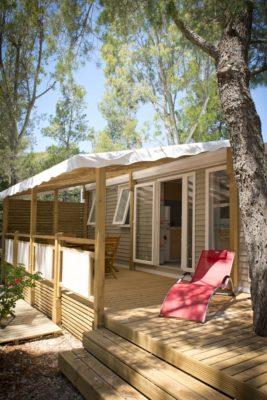 Mobile-home très haut de gamme en camping 4 étoiles pour 6 personnes