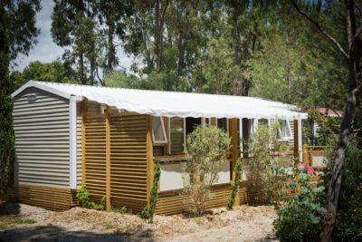 Mobile-home haut de gamme avec air conditionné en camping 4 étoiles pour 6 personnes