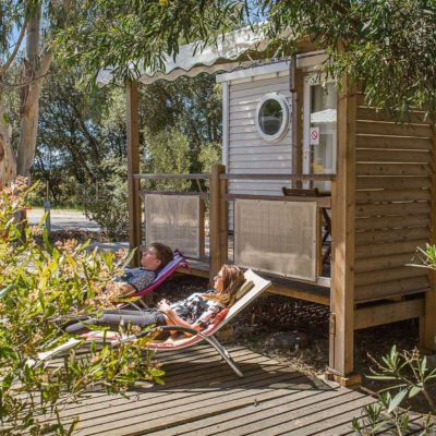Location mobile-home haut de gamme La Londe 1 chambre 2/3 personnes