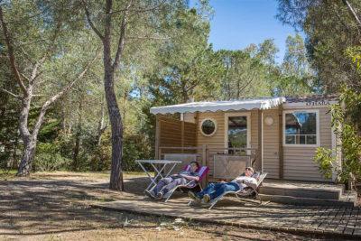 Location de mobile-home climatisé en camping 4 étoiles dans le Var