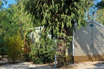 Camping nature Var bord mer mobile-home standing