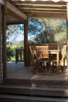 Camping mobile-home Vacances Terrasse Ombre Nature