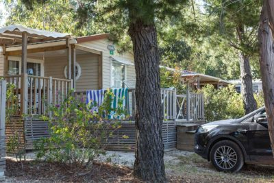 Camping Provence Mobile-home famille Parking
