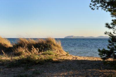Camping proche de la plage des Salins (commune d'Hyères)