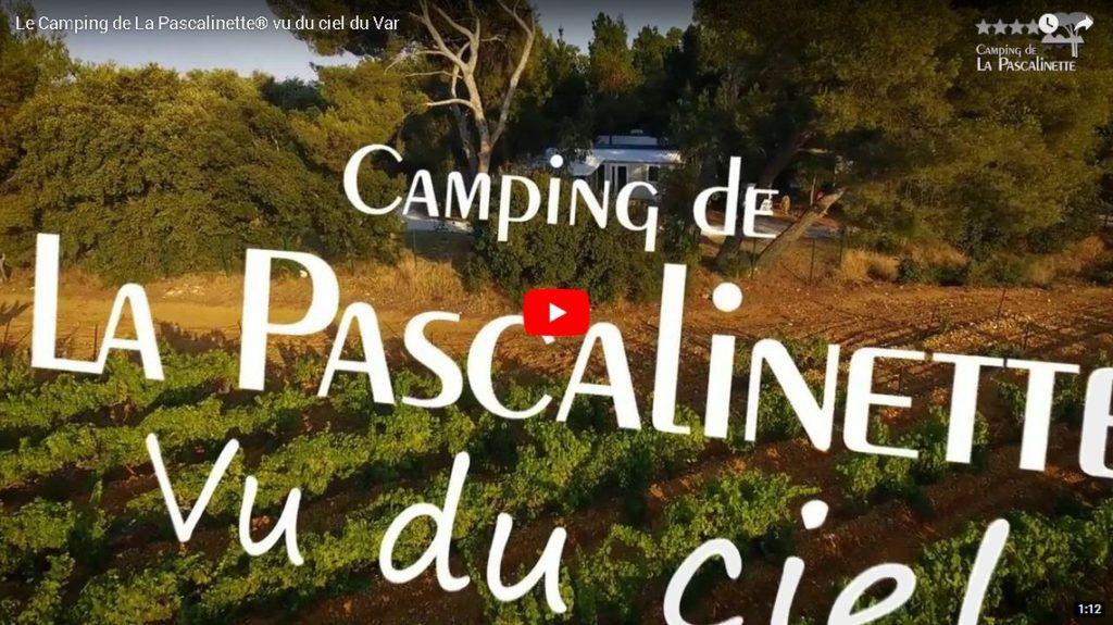 Camping à La Londe vu du ciel