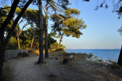 La plage des salins à Hyères, dans le Var