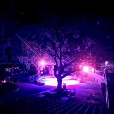 Lumières et animations piste de danse du camping
