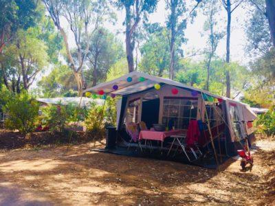 Emplacement caravane nature en camping écologique La Londe