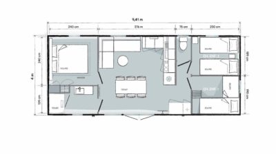 Concept villa en camping 4 étoiles - Var