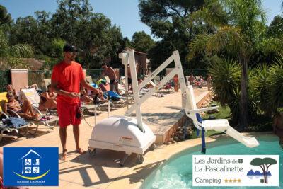 Camping Hyères Piscine PMR Handicap moteur
