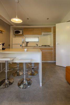 La cuisine moderne du mobile-home Vip