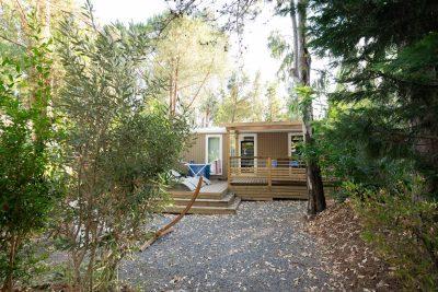 Camping avec mobile-hom Vip et jardin