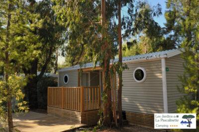 Mobile-home très haut de gamme en camping 4 étoiles pour 4 personnes