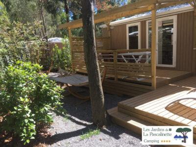 Mobile-home VIP avec terrasse et jardin