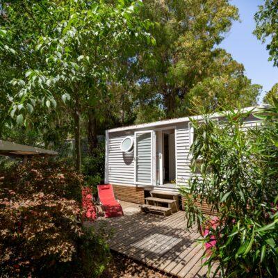 Location mobile-home climatisé La Londe camping piscines chauffées