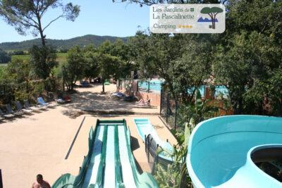 Camping Bormes-les-Mimosas Parc aquatiques Piscine chauffée Solarium Jacuzzi Spa